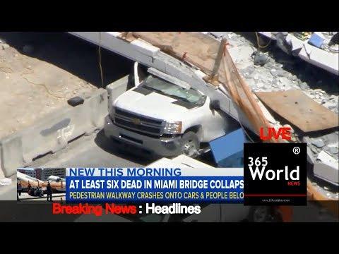 LIVE At Least 6 Dead In Bridge Collapse Miami Florida