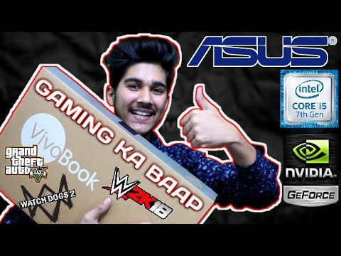 The Best Budget Gaming Laptop   ASUS R542U Vivo Book   Unboxing Must Watch 2018 (HINDI)