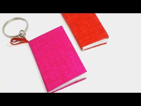 DIY mini notebook keychain