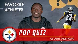 James Washington Answers Rapid Fire Questions | Pittsburgh Steelers Pop Quiz