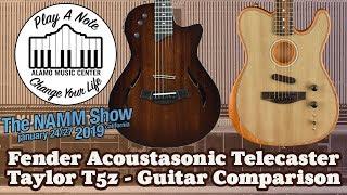 New Fender Acoustasonic Telecaster vs Taylor T5z - 2019 Guitar Comparison
