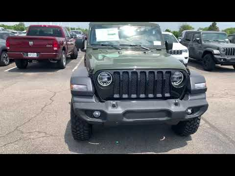 2020 Jeep Wrangler Willys Edition Sarge Green Youtube