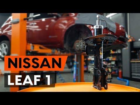 Как заменить переднюю стойку амортизатора наNISSAN LEAF 1 (ZE0U) [TUTORIAL AUTODOC]