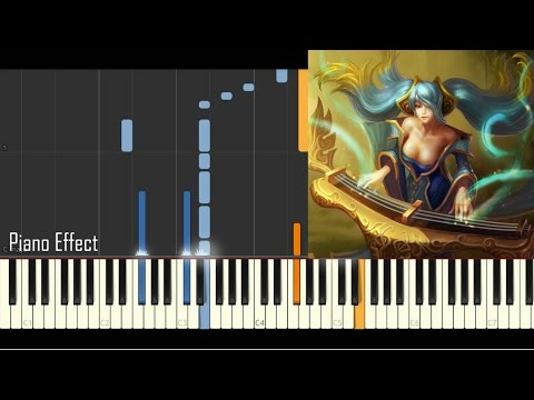 Sona's Theme - League Of Legends (Piano Tutorial Synthesia)