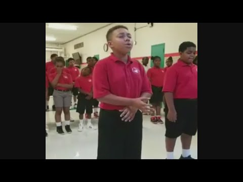 Students From Baltimore's Cardinal Shehan School Sing