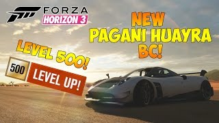 forza horizon 3 hitting level 500 new pagani huayra bc