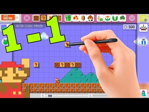 Recreating SMB 1-1 (Super Mario Maker)