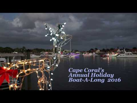 Cape Coral Holiday Boat A Long Parade 2016