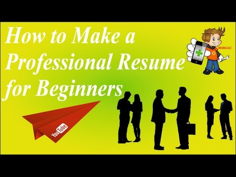 How to Create, Write or Build a Professional Resume/BioData in