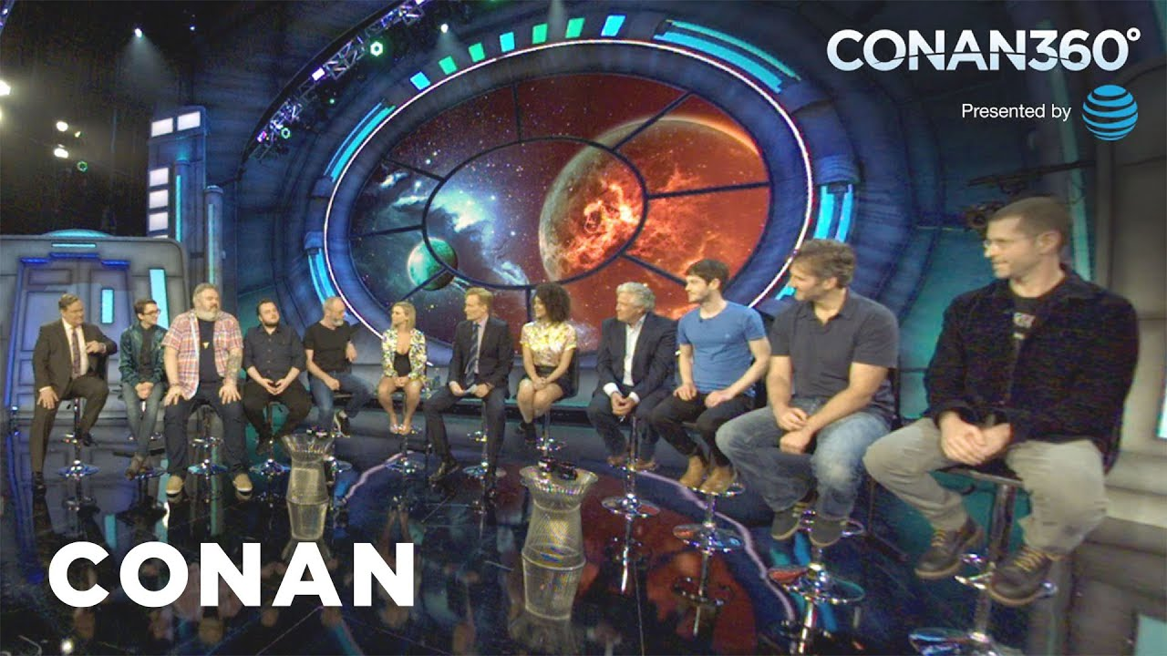 CONAN360 The Game Of Thrones Cast Makes Their Epic Entrance