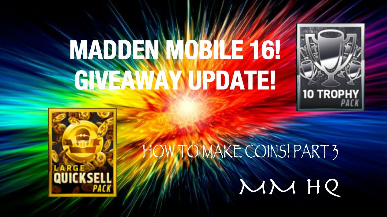 FREE MADDEN MOBILE COIN GIVEAWAY