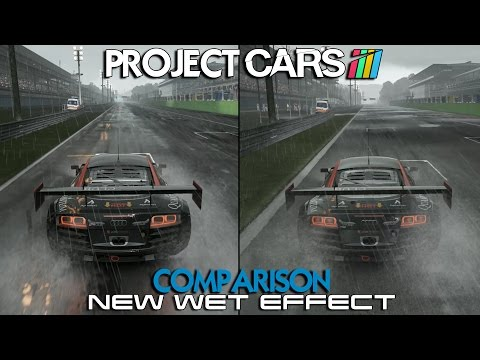 Project CARS Comparison - New Wet Effect (Audi R8 LMS @ Monza)