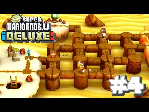 New Super Mario Bros U Deluxe- Layer-Cake Desert (Part 2)