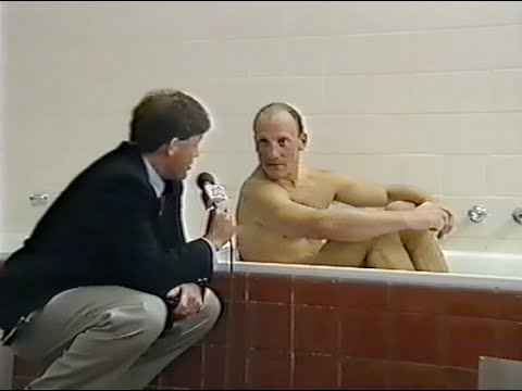 Gary Ablett gets interviewed in a bathtub