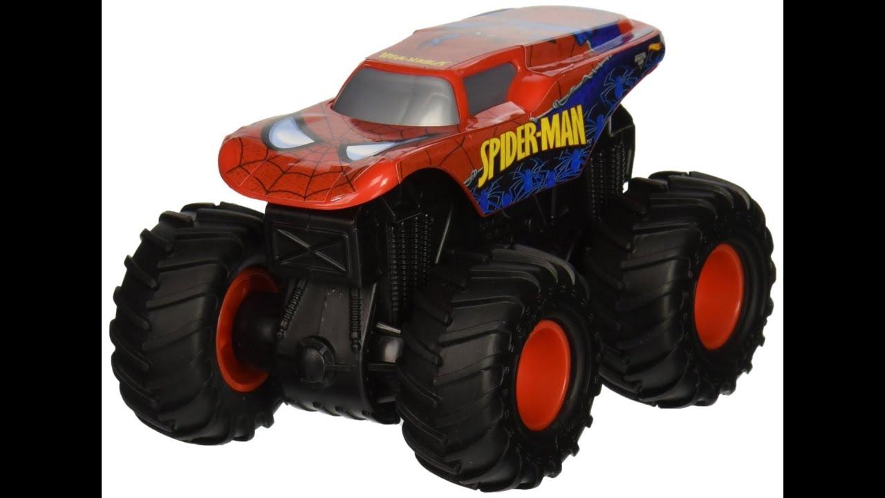 Monster Tredz Hot Spider Man Monstruo Vehículo JugueteCamion Juguete Jam Rev Wheels De Spiderman wXO80Pnk