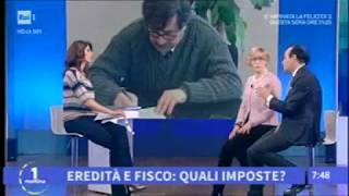 07/03/2018 - Unomattina (RAI 1) - Eredità: donazione o successione?