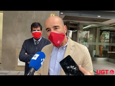 Fernando Luján en el juicio contra Glovo por vulneración de la libertad sindical