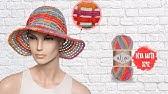Tığ işi ile yazlık şapka - Summer hat with crochet