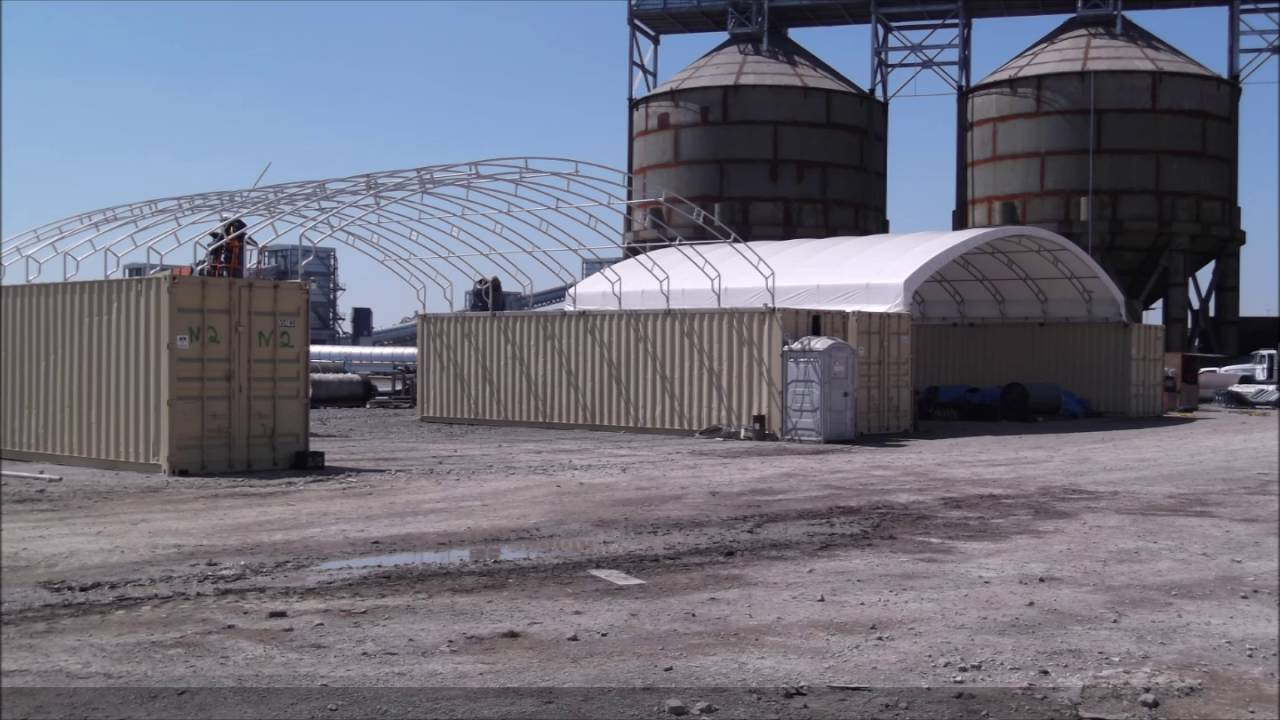 Shipping Container Covers By American Covers Inc Youtube