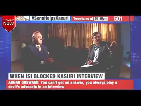 ISI Stopped Khurshid Kasuri's Live Interview With Arnab Goswami