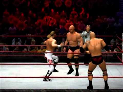 WWE 12 Bret Hart & HBK vs The Rock & Stone Cold P.2