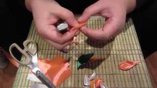 Видеоурок №2. Лепестки-канзаши для топиария