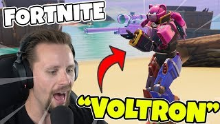 NEW ROBOT SKIN IN FORTNITE * VOLTRON * TESTS NEW GAMEMODET