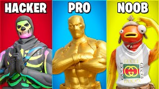 *NEW* Fortnite HACKER vs PRO vs NOOB!