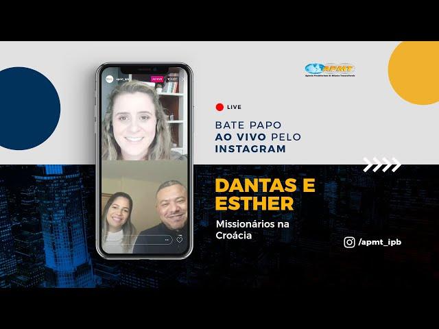 LIVE APMT com Dantas e Esther   Missionários na Croácia