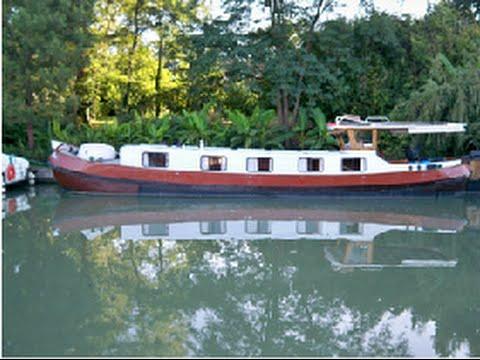 vente bateau p niche habitable tjalk canal du midi. Black Bedroom Furniture Sets. Home Design Ideas