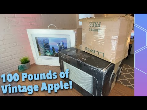 A Subscriber Sent Me Over 100 Pounds Of Vintage Apple Products!