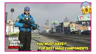 GTA 5 Online Top Best Male Outfits Components Transfer Glitch