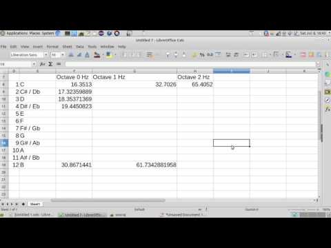 #1  Learn Music Theory using Excel Sheet. Calculate Frequency of Music Notes