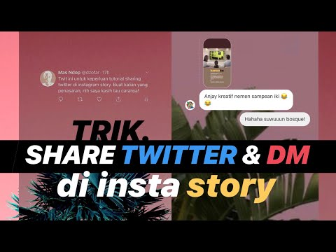 TRIK INSTA STORY: Share Twitter dan DM Instagram dengan Background Transparan!