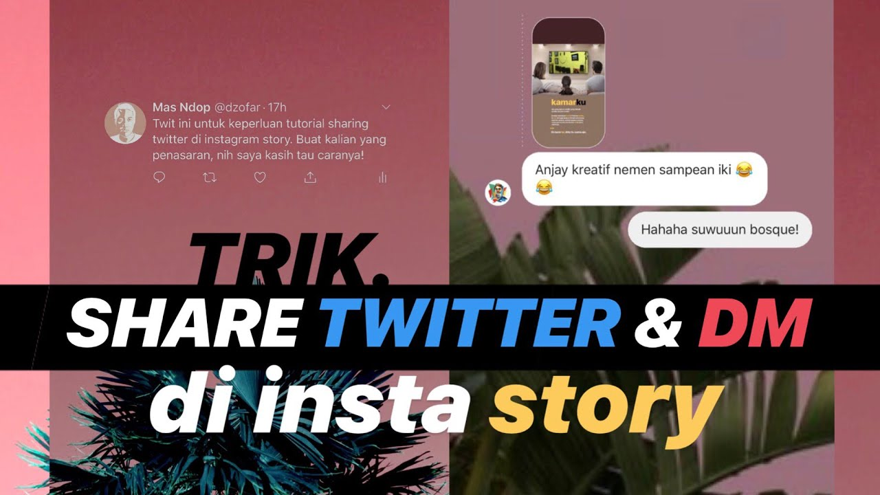 trik insta story share twitter dan dm instagram dengan background transparan