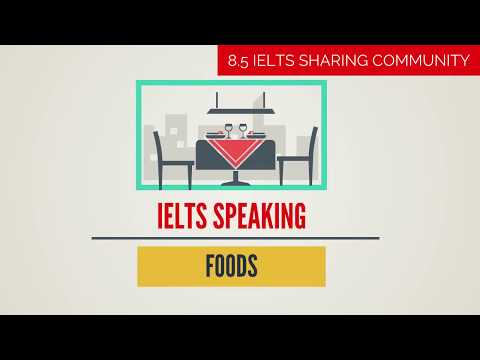 Full IELTS Speaking Test BAND 8 Preparation- Topic FOODS