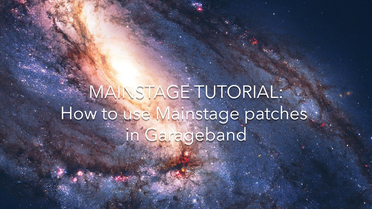 How to Use Mainstage Patches in Garageband