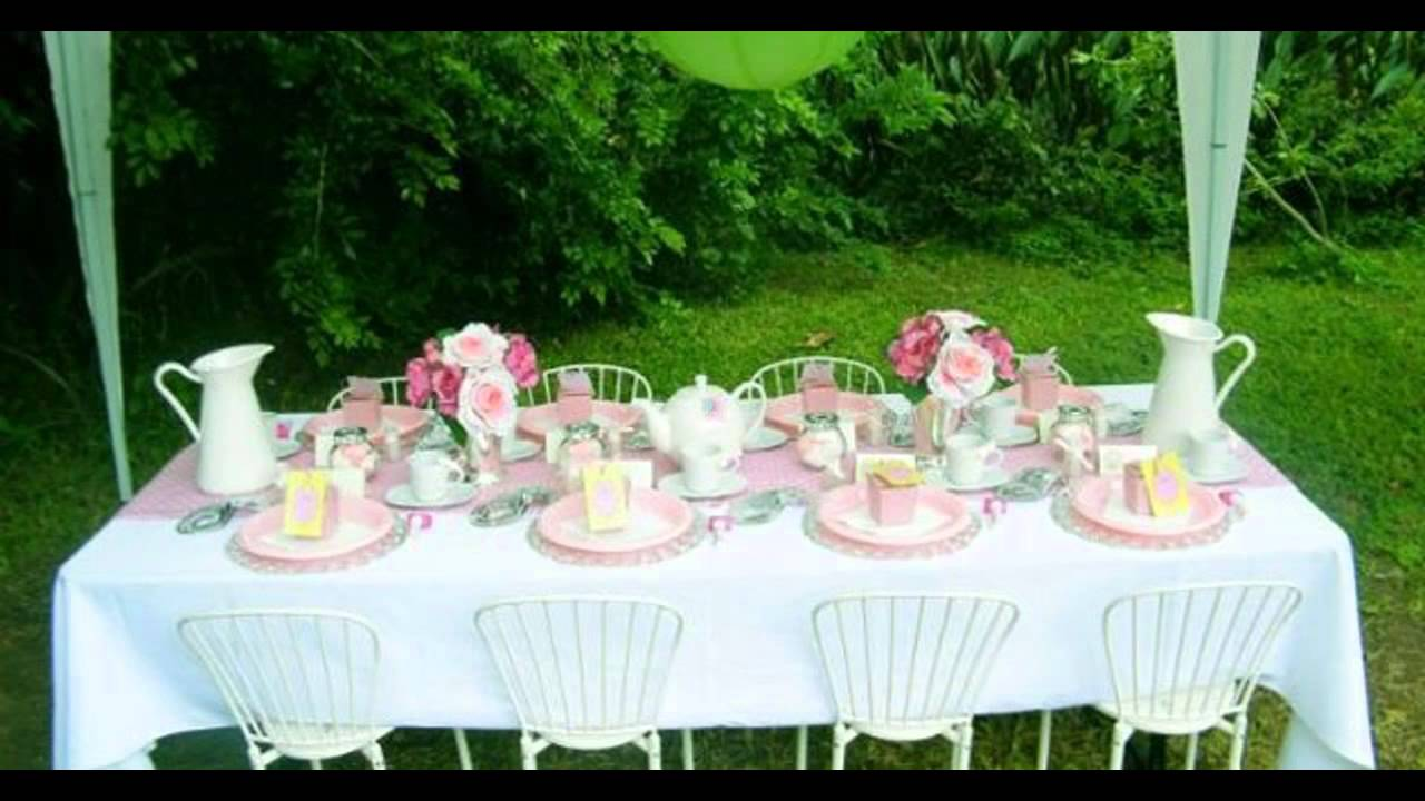 Kids tea party decorations at home ideas - YouTube