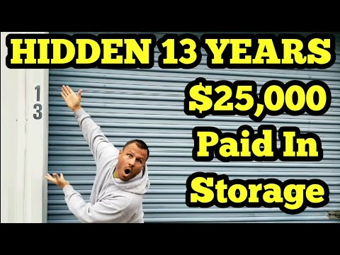 13 YEARS SECRETS REVEALED / I Bought An Abandoned Storage Unit Locker With Mystery Boxes