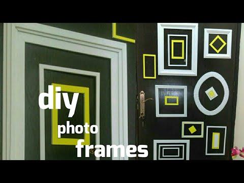 DIY Photo Frames/Door Decoration With Empty Frames