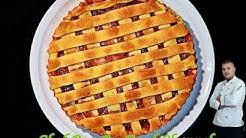 Rhubarb Strawberry Pie - Rhabarber-Erdbeerkuchen - Pita sa Rabarbarom i Jagodama
