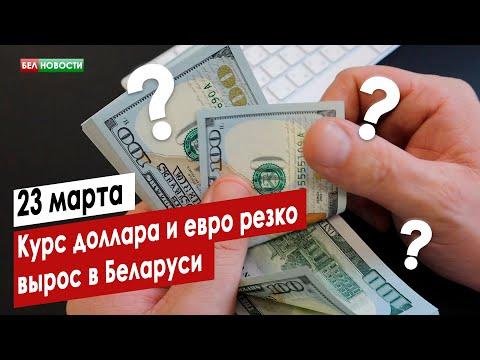 Курс доллара и евро резко вырос в Беларуси 23 марта