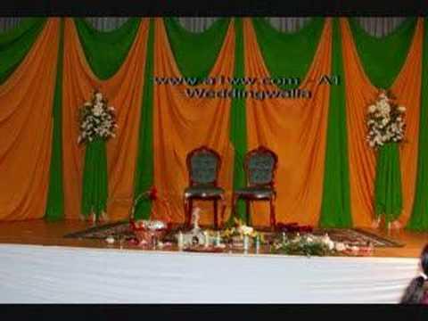 Mehndi Dupatta Decoration : Mehndi stage decoration youtube