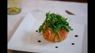 Язык с соусом из тунца