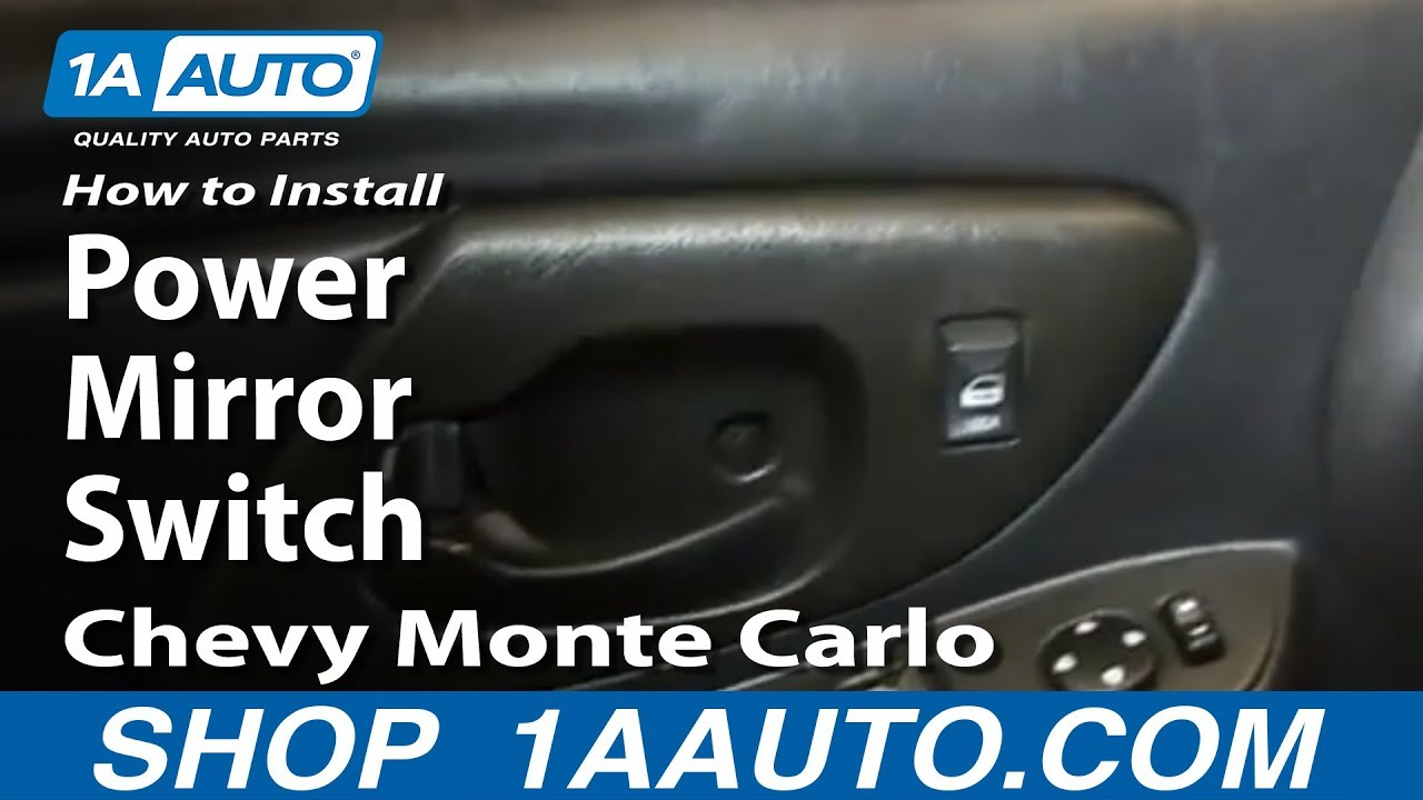 How To Install Replace Power Mirror Switch 2000 05 Chevy Monte Carlo 2002 Suburban Control Wiring Diagram