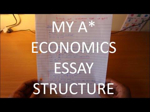 How To Structure ECONOMICS Essay A-Level GCSE - YouTube