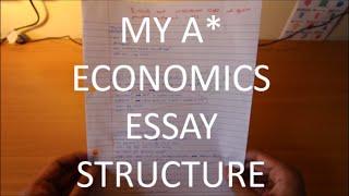 How To Structure ECONOMICS Essay | A-Level | GCSE