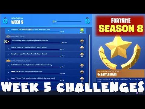 ALL Week 5 Challenges Guide - Fortnite Battle Royale Season 8