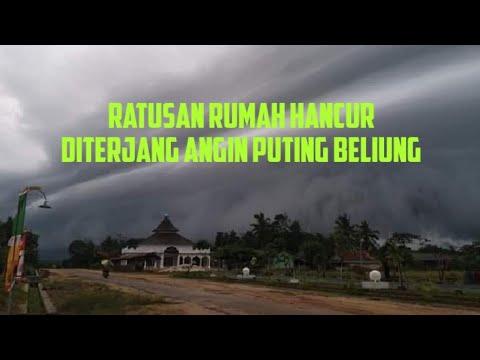 Video: Angin Puting Beliung Terjang Dua Kecamatan di Kabupaten Tulang Bawang, Lampung