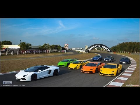 Supercars track day at Madras Motor Sports Club , Chennai , India